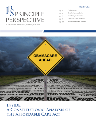 Principle Perspective - ObamaCare