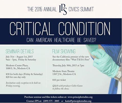 Civics Summit 2015 - Critical Condition: Can American Health Care be Saved?