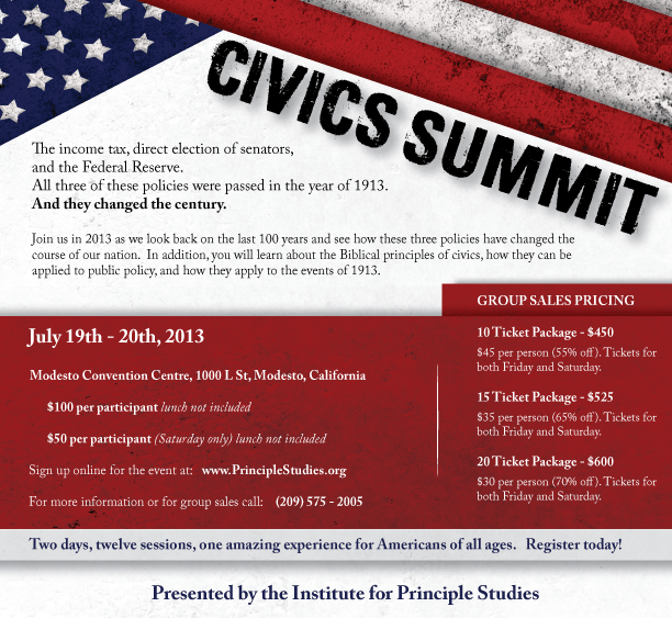 Civics Summit 2013 - 1913: The Year that Changed the Century