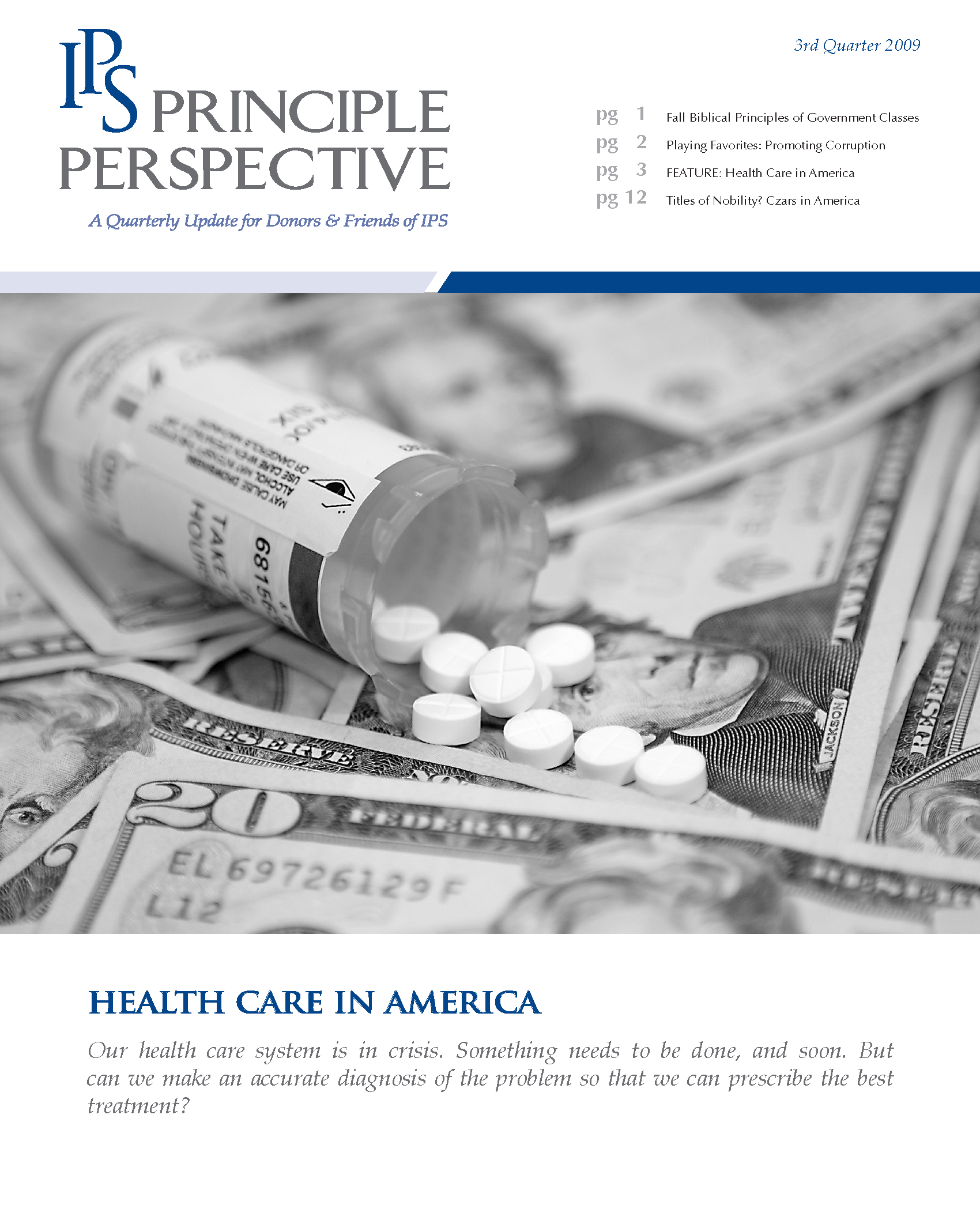 Principle Perspective - Health Care in America