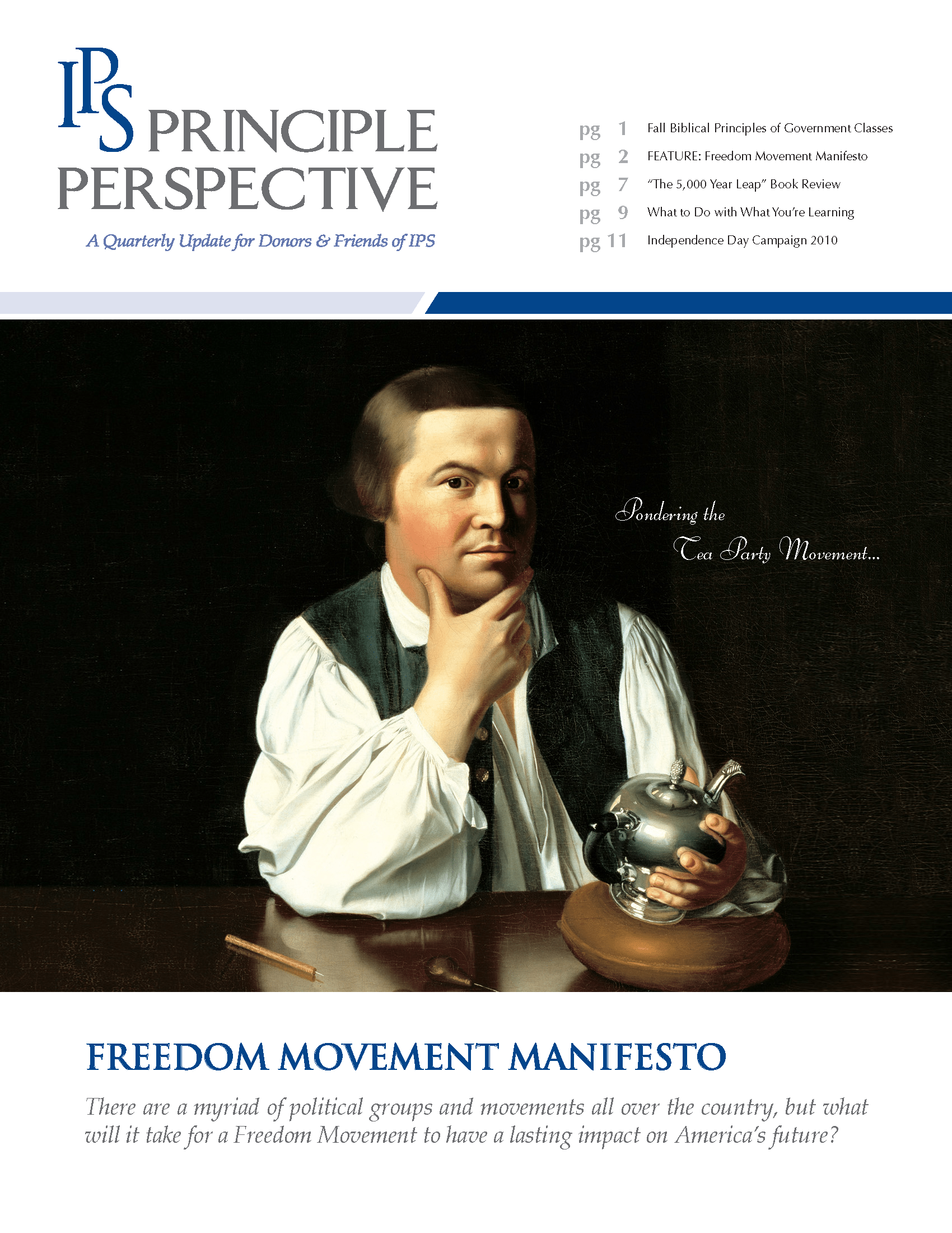 Principle Perspective - Freedom Movement Manifesto