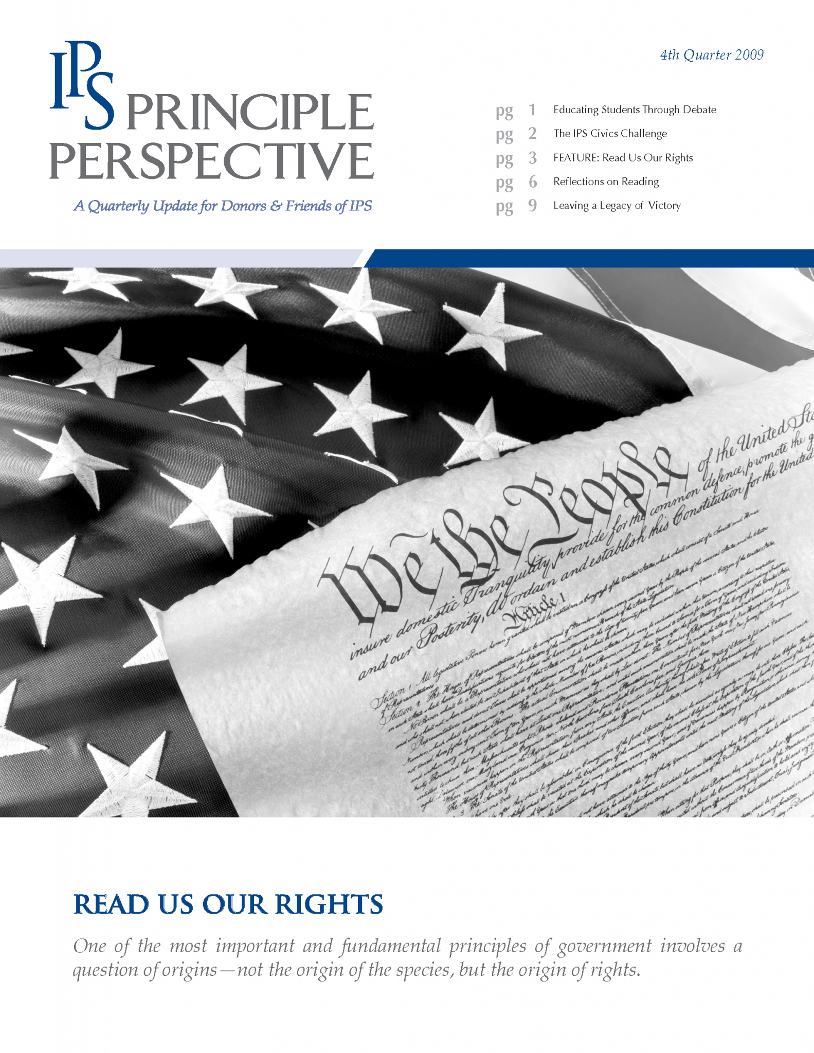 Principle Perspective - Read Us Our Rights