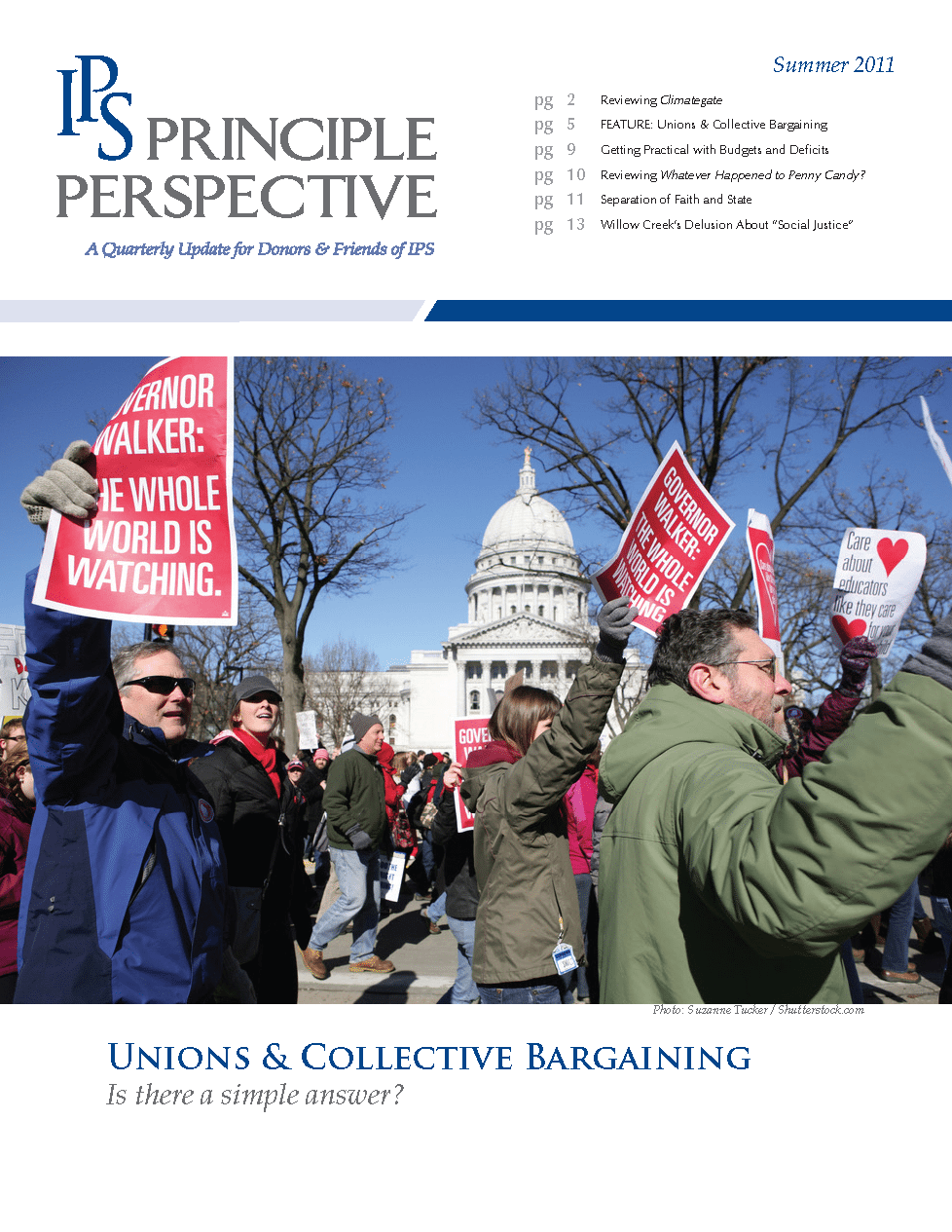 Principle Perspective - Unions & Collective Bargaining